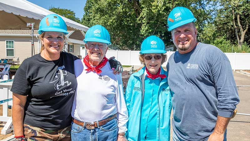 Garth Brooks and Trisha Yearwood Join 35th Annual Habitat for Humanity Jimmy and Rosalynn Carter Work Project
