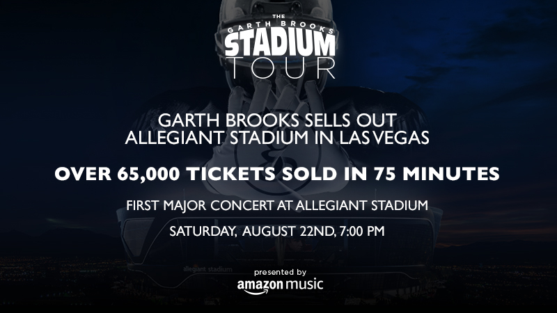 GARTH BROOKS SELLS OUT ALLEGIANT STADIUM IN LAS VEGAS