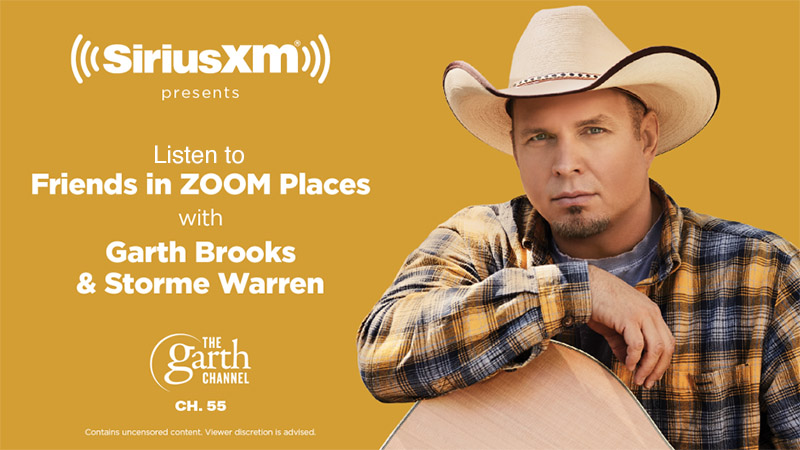 "LISTEN TO ""FRIENDS IN ZOOM PLACES"" WITH GARTH AND STORME WARREN April 26 at 5 p.m. EDT on The Garth Channel/Sirius XM Channel 55"