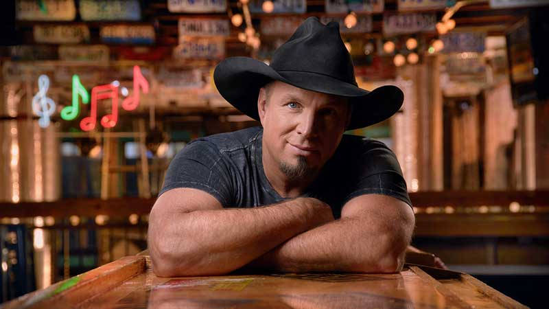 "GARTH BROOKS BECOMES FIRST ARTIST TO GARNER TOP FIVE SINGLES ON THE COUNTRY RADIO CHARTS ACROSS FIVE CONSECUTIVE DECADES WITH ""DIVE BAR"" WITH BLAKE SHELTON"