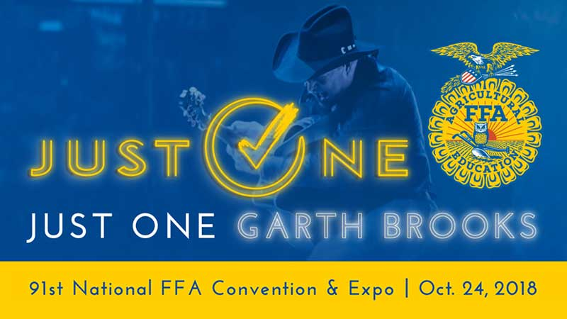 GARTH BROOKS TO PERFORM PRIVATE CONCERT AT 91st NATIONAL FFA CONVENTION & EXPO