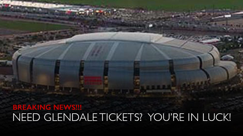 NEED GLENDALE TICKETS? YOU'RE IN LUCK!