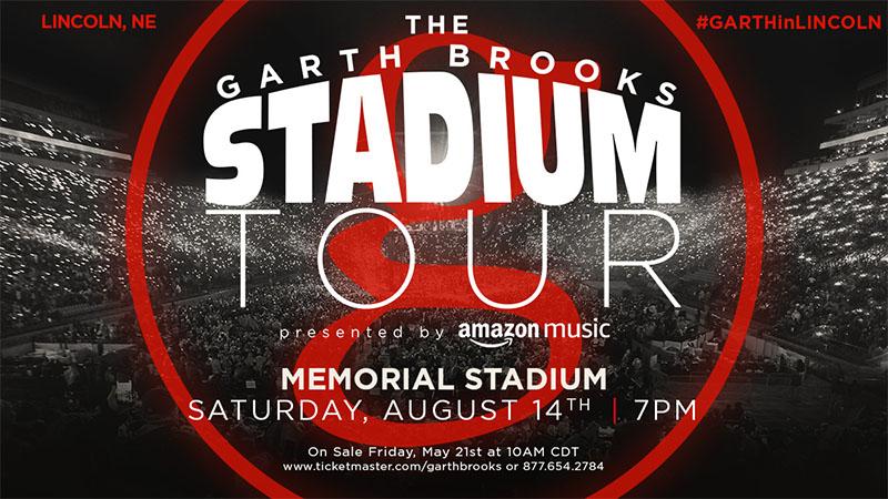 The Garth Brooks Stadium Tour Is Coming To Lincoln, NE Memorial Stadium