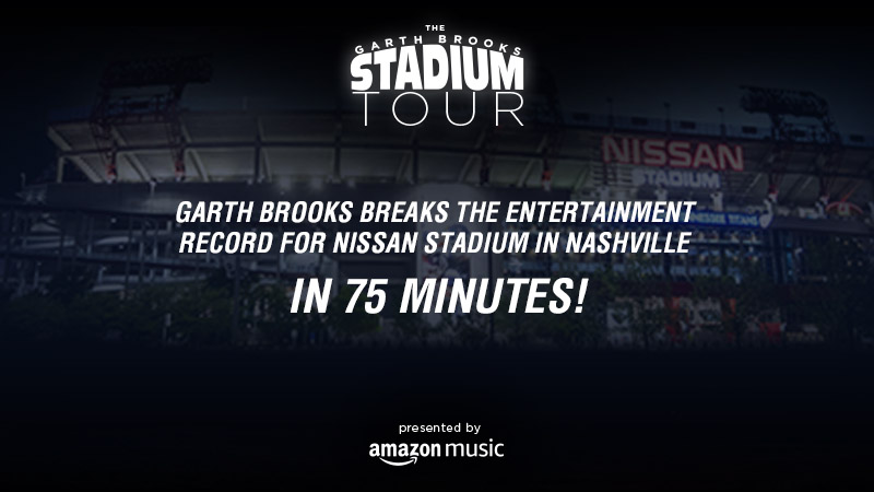 Garth Brooks Breaks the Entertainment Record For Nissan Stadium in Nashville in 75 Minutes