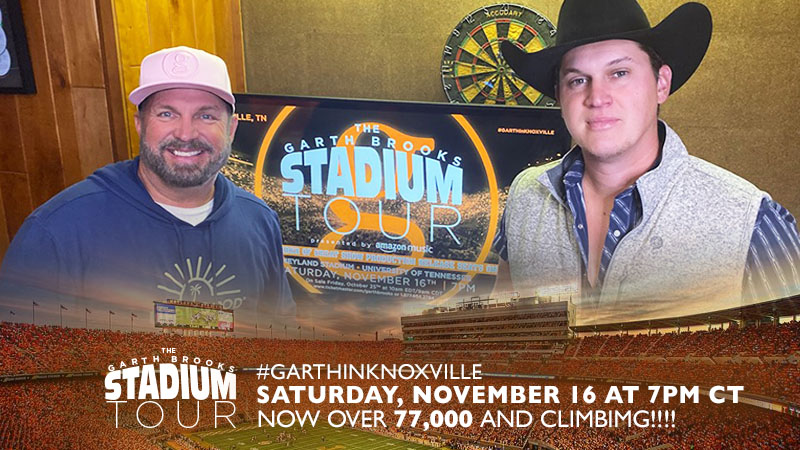WHO'S THE OPENER FOR #GARTHINKNOXVILLE?