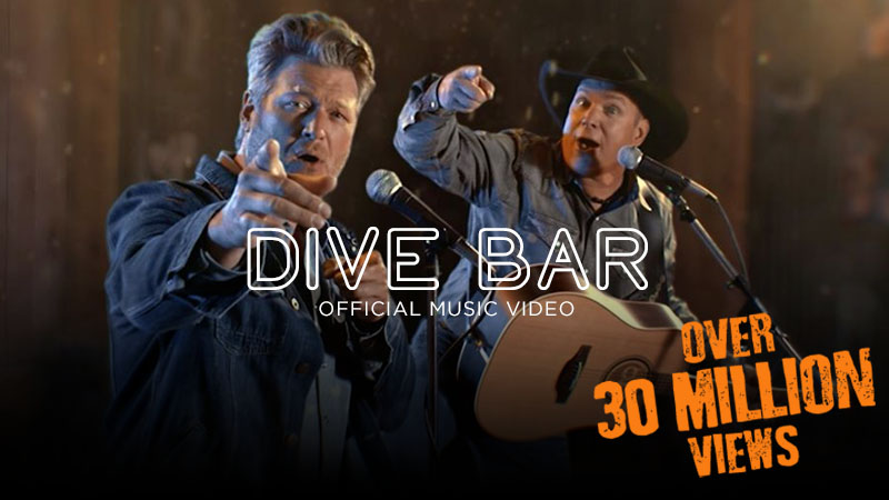 Garth Brooks' Music Video Dive Bar With Blake Shelton Surpassed 30 Million Views In Just Five Days... Only On Facebook