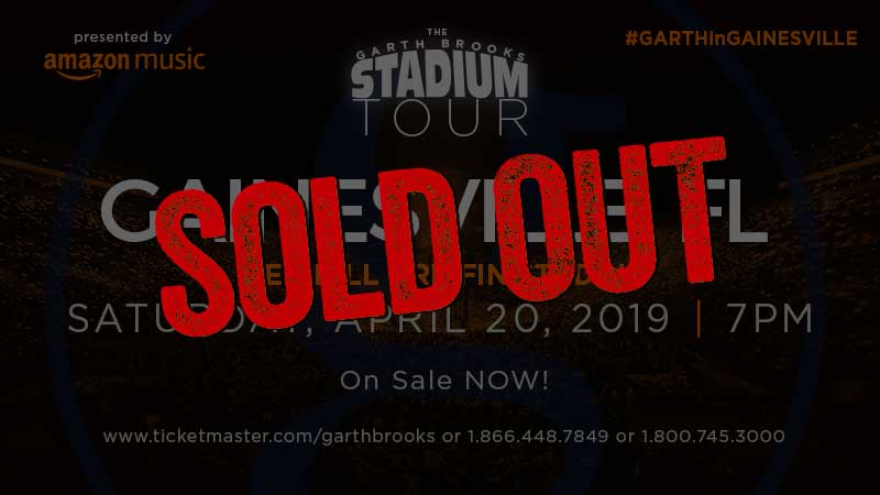 GARTH BROOKS SETS RECORD IN GAINESVILLE, FL