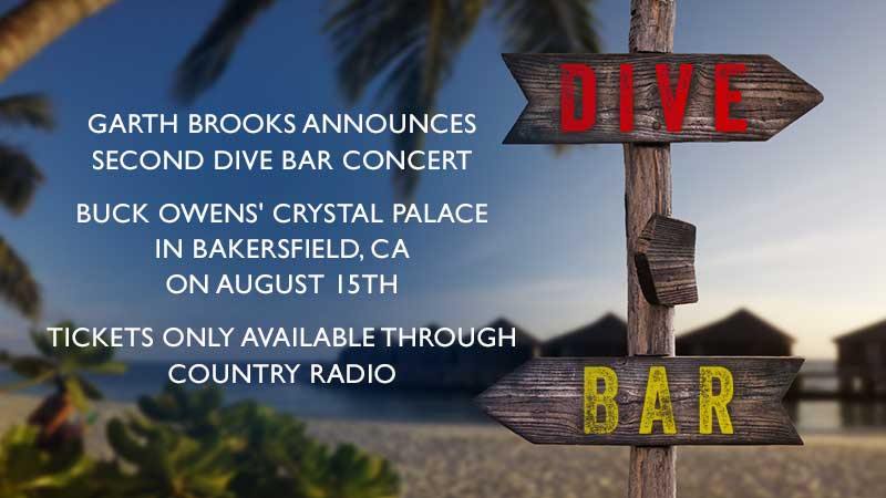 Garth Brooks Announces Second DIVE BAR Concert