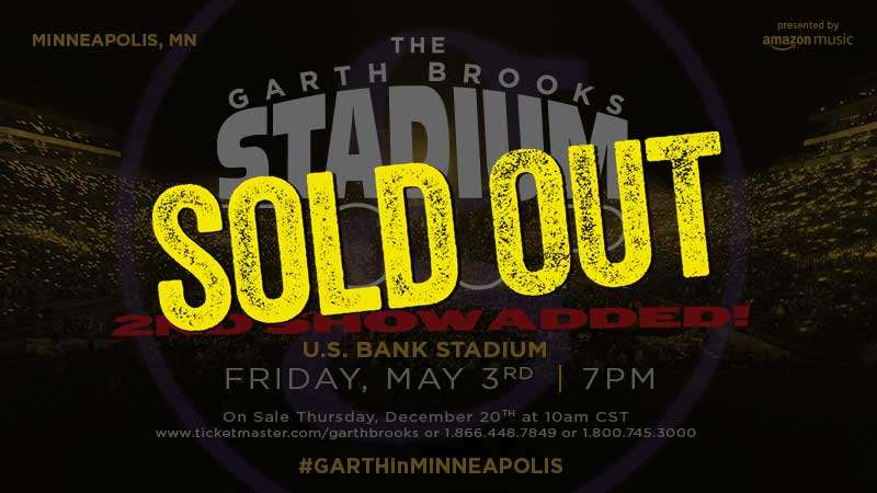 Garth Brooks Has Sold Out 2nd Concert At U.S. Bank Stadium In Minneapolis