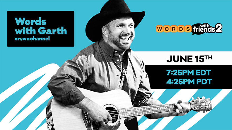 """Words With Garth"" is coming on June 15, featuring Garth Brooks and Words with Friends 2!"