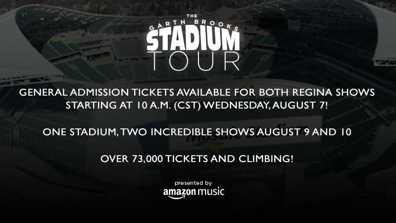General Admission Tickets Available for Both Shows at Mosaic Stadium On Sale 10 a.m. (CST) Wednesday, August 7